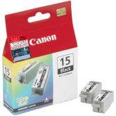Canon Cartridge BCI-15 Black inktcartridge 2 stuk(s) Origineel Zwart