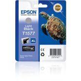 Epson Turtle T1577 inktcartridge 1 stuk(s) Origineel Hoog (XL) rendement Licht zwart