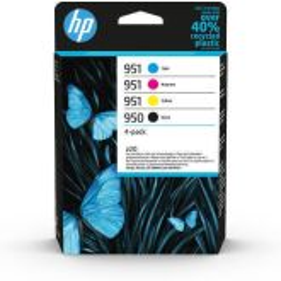HP 950 zwarte/951 originele cyaan/magenta/gele inktcartridges, 4-pack
