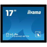 iiyama ProLite TF1734MC-B7X touch screen-monitor 43,2 cm (17 inch) 1280 x 1024 Pixels Multi-touch Zwart
