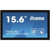 iiyama ProLite TF1634MC-B8X touch screen-monitor 39,6 cm (15.6 inch) 1920 x 1080 Pixels Multi-touch Multi-gebruiker Zwart