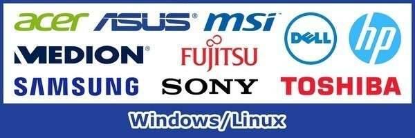 Herstellingen Windows Linux Hardware Desktops